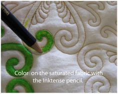 color inside the stitches with inktense Pencils!