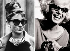 6874872a1fb0 Marilyn Monroe and Audrey Hepburn in 1950s Cat-Eye style Marilyn Monroe And  Audrey Hepburn