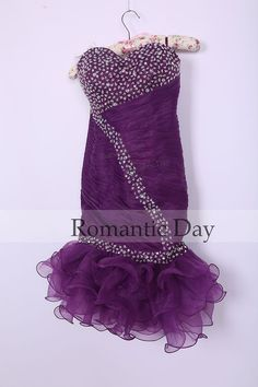 2014 Purple sweetheart ALine Sheath sequined by RomanticDay