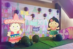 Alexa's It's a Small World Themed party – Photo Op Area