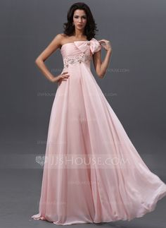 Prom Dresses - $142.99 - Empire One-Shoulder Floor-Length Chiffon Prom Dress With Ruffle Lace Beading (018022744) http://jjshouse.com/Empire-One-Shoulder-Floor-Length-Chiffon-Prom-Dress-With-Ruffle-Lace-Beading-018022744-g22744