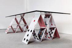House Of Cards Table by Mauricio Arruda