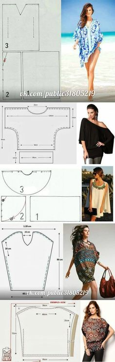 25 Easy Free Sewing Tutorials for Beginners - On the Cutting Floor: Printable pdf sewing patterns and tutorials for women - sewing * - Easy Sewing Sewing Patterns Free, Free Sewing, Clothing Patterns, Dress Patterns, Free Pattern, Sewing For Beginners Patterns, Knitting Patterns, Poncho Pattern Sewing, Kaftan Pattern