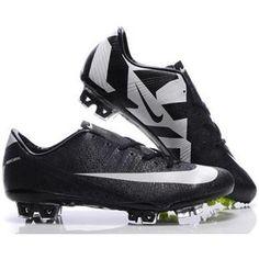 http://www.asneakers4u.com/ New style Nike SoccerFootball Mercurial Vapor SuperFly III FG CR7 Safari In Black White Cleats