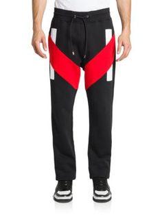 Givenchy Cotton Stripe Jogger Pants | Clothing