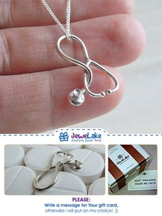 Medical jewelry Doctor Gift stethoscope necklace Nurse Jewelry