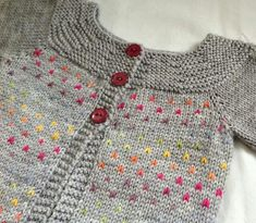 Heart baby sweater