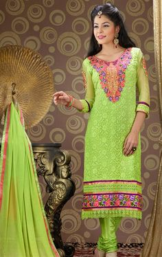 Picture of Charming Green Color Party Wear Salwar Kameez