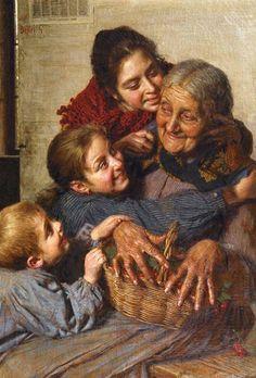 Gaetano- Bellei ~ Gran's Basket Of Cherries