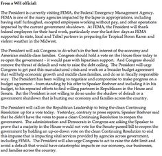 """Twitter /  """"ZekeJMiller: Full WH official statement on Obama's FEMA visit"""""""