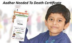 Aadhar Number For Getting Death Certificate  #aadharneed, #uid, #aadharfordeathcertificate
