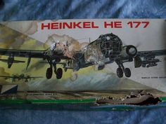 1960's MPC 1/72 Scale Plastic NOS Heinkel HE117A-5 German Bomber Model by MyHillbillyWays on Etsy