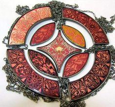 """Marta Rudnicka - Collection """"5 sences"""" / Nine necklaces. Silver, copper, enamel. 2010"""