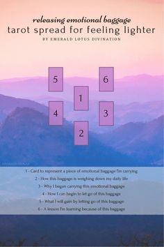 Emotional baggage, trauma, stress – we carry these things around like a piece of luggage. Here's a tarot spread to help you drop some of what you're carrying. For more free tarot spreads, please visit my website: www.emeraldlotus.ca