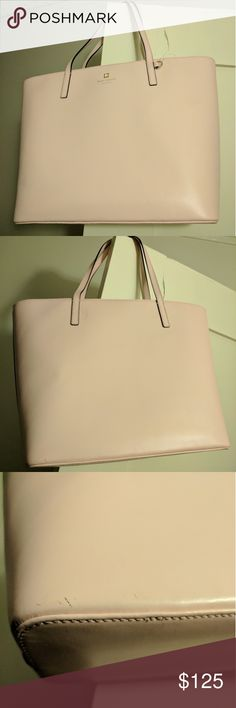 LIKE NEW Kate Spade pink leather purse *FIRM PRICE Great condition! No damages other than a very small dirty mark on the side (almost unnoticeable unless you look very closely) kate spade Bags Shoulder Bags