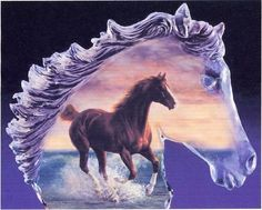 FREE GRAPHICS POINT CROSS: HORSES ~~ GLASS HORSE  PG 1 OF 6