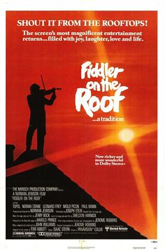 Fiddler on the Roof (1971) In prerevolutionary Russia, a Jewish peasant contends with marrying off three of his daughters while growing antisemitic sentiment threatens his village.  Topol, Norma Crane, Leonard Frey...15a
