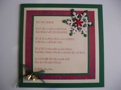 Kerstkaart met gedicht..
