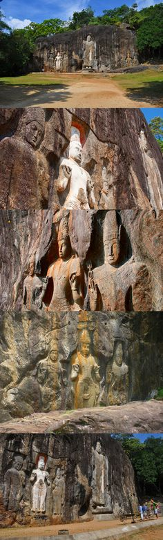 Rock Carving at Buduruwagala, Sri Lanka #SriLanka #Buduruwagala #Buddhism