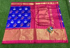 Elegant Fashion Wear Explore the trendy fashion wear by different stores from India South Indian Wedding Saree, Saree Wedding, Picnic Blanket, Outdoor Blanket, Elegant Fashion Wear, Ikkat Saree, Pure Silk Sarees, Ikat, Pure Products