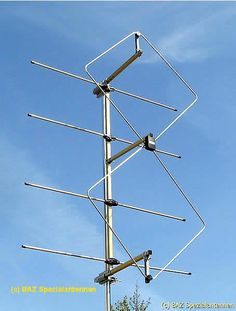 HYBRID DOUBLE QUAD ANTENNA 2M      Double quad antenna amateurradio 2m          Antenna for Amateurradio, Hamradio  2m-band VHF (frequency 144.000 MHz - 146.000 MHz / 144.000 MHz - 148.000 MHz)    Double quad antenna with 50 ohm and 4 reflector elements    For horizontal