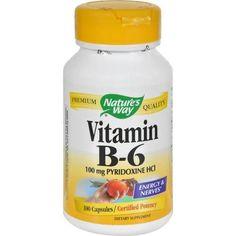 Nature's Way Vitamin B-6 - 100 Mg - 100 Capsules - 0816124