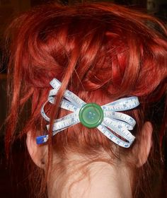 measuring tape hair bow - JEWELRY AND TRINKETS
