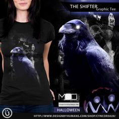 Nab one of our #creepy #dark #crow #graphic #tees this #Halloween The #Shifter exclusively from our MODest Attire @designbyhumans store right here http://www.designbyhumans.com/shop/t-shirt/men/the-shifter/49764/ Our awesome designs are also available as #iPhone and #Samsung #Galaxy #cell #cases , and #unisex #tees #tank #tops, #sweatshirts and wall prints . #Clothing #apparel #fashion #designbyhumans #dbhtees #tshirt #fashion #art #deer #tshirt #outfit