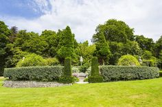 Holker Gardens Sunken Garden Holker Hall country house near Cartmel Cumbria England  www.alamy.com/image-details-popup.asp?ARef=FFJXE1  #garden #england #lake #english #uk #district #cumbria #sky #tourism #britain #trees #grass #rural #blue #travel #beautiful #green #plants #europe #tranquil #british #country #home #picturesque #traditional #formal #outdoor #kingdom #gardening #ornamental
