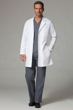 Our unisex long sleeve lab coat is tailored to fit the needs of men and women both! With multiple large pockets perfect for holding all of your medical tools this coat is sure to get you through those long hospital days. Housekeeping Uniform, Medical Photography, Lab Coats, Scrub Life, Studio Portraits, Womens Fashion For Work, Scrubs, Casual Outfits, Unisex
