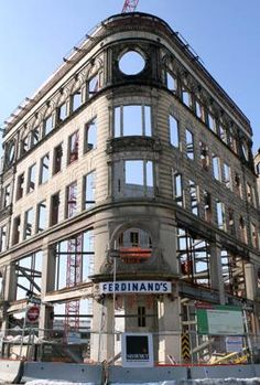 The redevelopment of the Ferdinand's building in Roxbury's Dudley Square is on time and on budget, according to the city, which is leading the project.