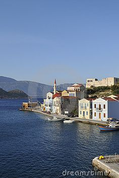 Photo about View of the harbour of the small island of Kastelorizo, Dodecanese Islands, Greece. Image of mediterranean, megisti, dodecanese - 19821490 Greek Beauty, Pipe Dream, Greece Islands, Small Island, Greek Life, What A Wonderful World, Ancient Greece, Greece Travel, World Heritage Sites
