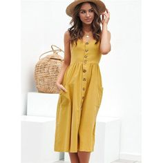 Dresses with pockets are Pocket Love's specialty, and every dress at Pocket Love has pockets. Floral Maxi Dress, Dot Dress, Striped Dress, Yellow Sundress, Spaghetti Strap Dresses, Plus Size Dresses, Sleeve Styles, Wrap Dress, Backless