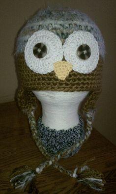 Fuzzy brown owl. 3-10 yrs.$20