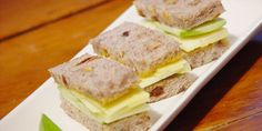 Apple and Cheddar Tea Sandwiches