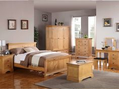 solid wood bedroom furniture design of farmhouse collection
