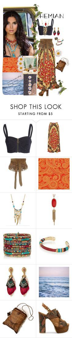"""""""Free Spirit"""" by papillon825 ❤ liked on Polyvore featuring Zeynep Arçay, WithChic, Kendra Scott, Gas Bijoux, Leah Flores, Peace and Love by Calao, Ash and BohoStyle"""