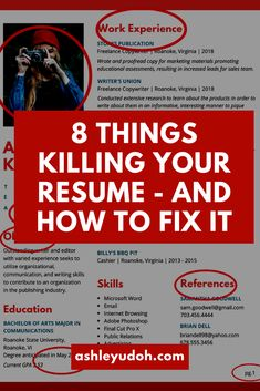 8 Things Killing Your Resume and Easy Ways To Fix Them Internships For College Students, Scholarships For College, College Tips, High School Jobs, College Acceptance Letter, Admin Work, No Experience Jobs, List Of Skills, Job Info