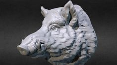 Contact me - Wild Boar head. Digital sculpture - model by VoronArt ( Wild Boar Image, Animal Sculptures, Sculpture Art, Digital Sculpting, Animal Anatomy, Animal Faces, Zbrush, Creatures, Pigs