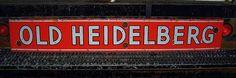 Old Heidelberg Beer Porcelain Sign  (1940 Vintage Alcohol Advertising Signs, Antique Liquor Sign)