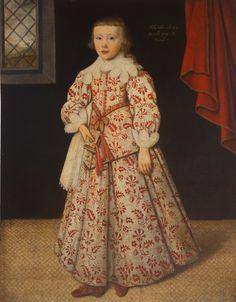 kleider zeichnen Portrait of Bennet Sherard, Baron Sherard of Leitrim aged eight by Gilbert Jackson