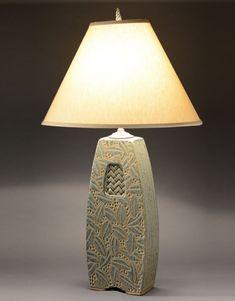 Sage Woven Window Lamp