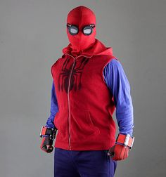 Suit Spider-man Homecoming / Web Shooter / Mask / Goggles /