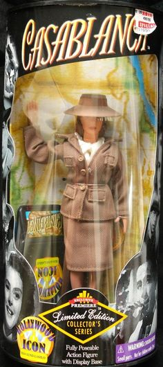 CASABLANCA ILSA LUND LASZIO Action Figure Fully Poseable with Display Base 1998