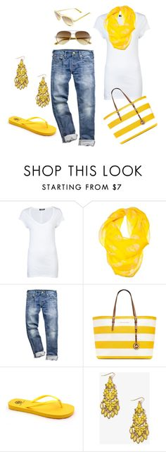 Summer Casual by honeybee20 on Polyvore featuring +Beryll, Tory Burch, MICHAEL Michael Kors, Forever 21 and Alexander McQueen