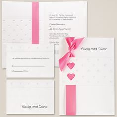 Sweet Hearts in Bright White Wedding Invitation | #exclusivelyweddings | #weddinginvitations