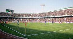 The largest soccer stadiums in the world. Some are among the most famous names in the world, including Wembley and the Nou Camp but some I'm pretty sure you haven't heard of. Soccer Stadium, Football Stadiums, Iran Football, Football Soccer, Paisley Scotland, Tehran Iran, Famous Names, Top Ten, World