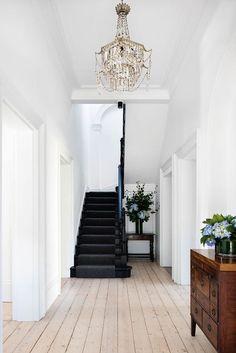 Black Wood Floors, Natural Wood Flooring, Wood Walls, Wood Wood, Rustic Wood, Black Floorboards, Natural Wood Decor, Diy Wood, Home Renovation