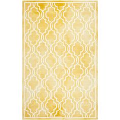 Anchor your patio seating group or define space in the den with this hand-tufted wool rug, showcasing a quatrefoil trellis on a dip-dyed background....