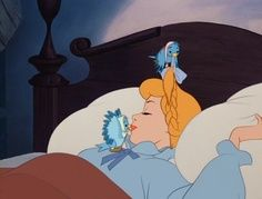 *CINDERELLA, 1950 ,,,,the birds wake up Cinderella